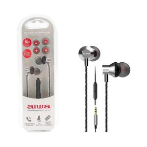swisspro auricular in ear con microfono aiwa estm 50sl plata