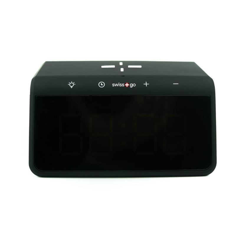 swisspro reloj despertador y cargador inalambrico qi swissgo enea 0003 SWI503020