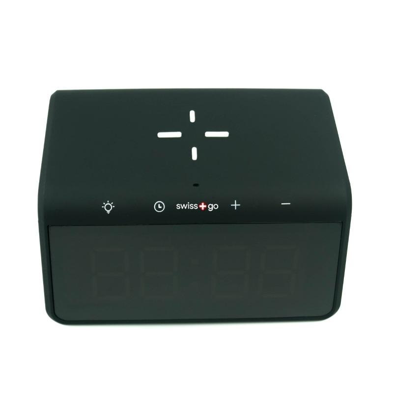 swisspro reloj despertador y cargador inalambrico qi swissgo enea 0004 SWI503020