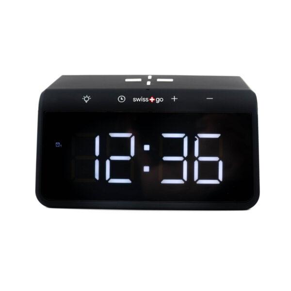 swisspro reloj despertador y cargador inalambrico qi swissgo enea 0006 SWI503020