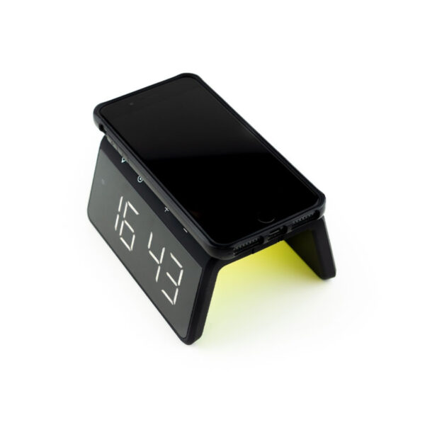 swisspro reloj despertador y cargador inalambrico qi swissgo enea 0007 SWI503020