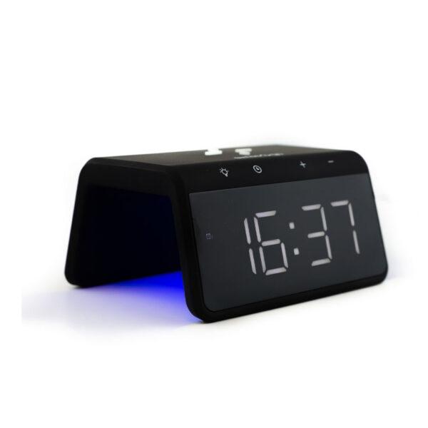 swisspro reloj despertador y cargador inalambrico qi swissgo enea 0008 SWI503020