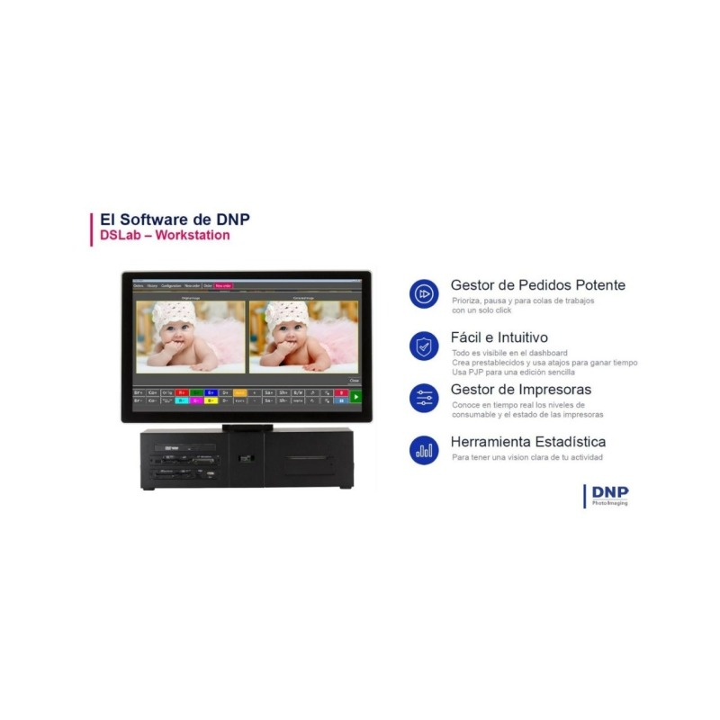 """Kiosco DNP DS T4 Order Work Station 21,5"""" con DS Lab Software"""