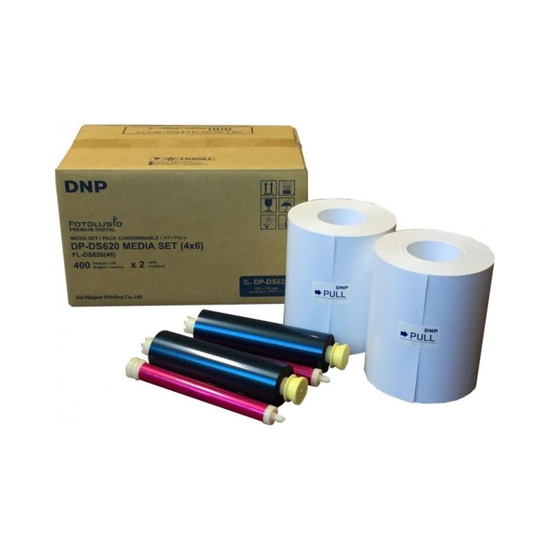 Papel Térmico DNP DS620 15x20 - 400 fotos   10x15 - 800 fotos