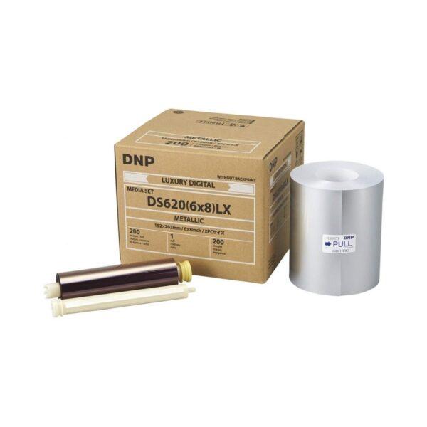 Papel Térmico DNP DS620 LX Metálico 15x20 | 200 fotos