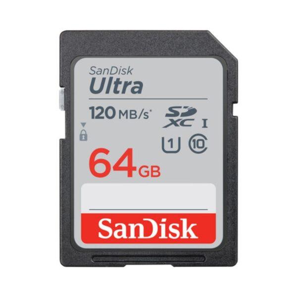 Tarjeta Memoria - SDHC 64Gb Sandisk Ultra 120Mb/s Clase 10 imaging