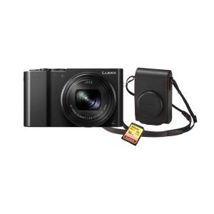 Cámara Compacta Panasonic Lumix TZ100EG-K Negra con Funda y Tarjeta (sds)