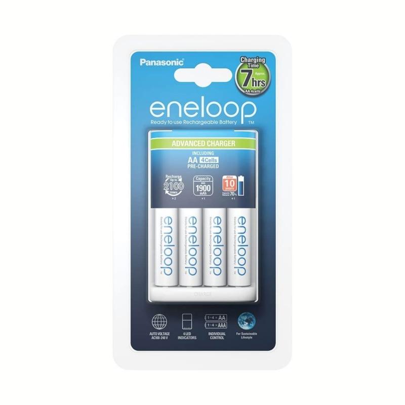 Cargador Panasonic Eneloop Smart-Quick + 4 Pilas AA 1900mAh