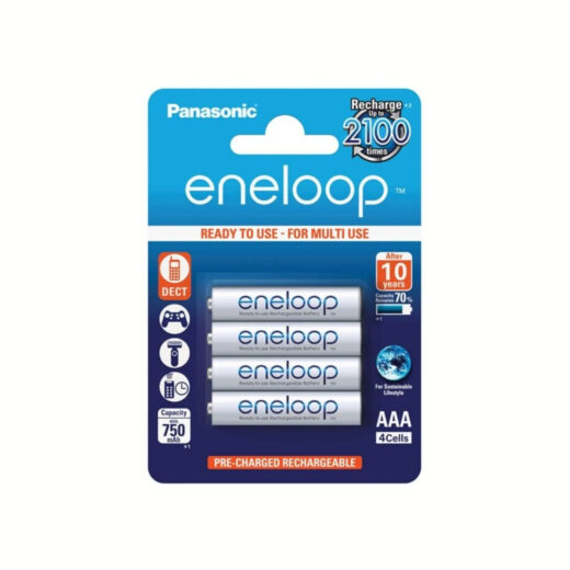 Pila AA Panasonic Eneloop Recargable R6 Ni-MH 1900mAh 1,2V Bl-4