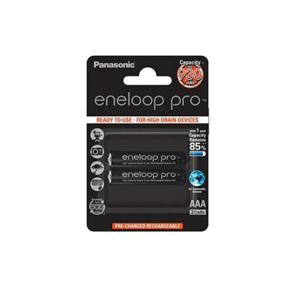Pila AAA Panasonic Eneloop Pro Recargable R3 Ni-MH 930mAh 1,2V Bl-2