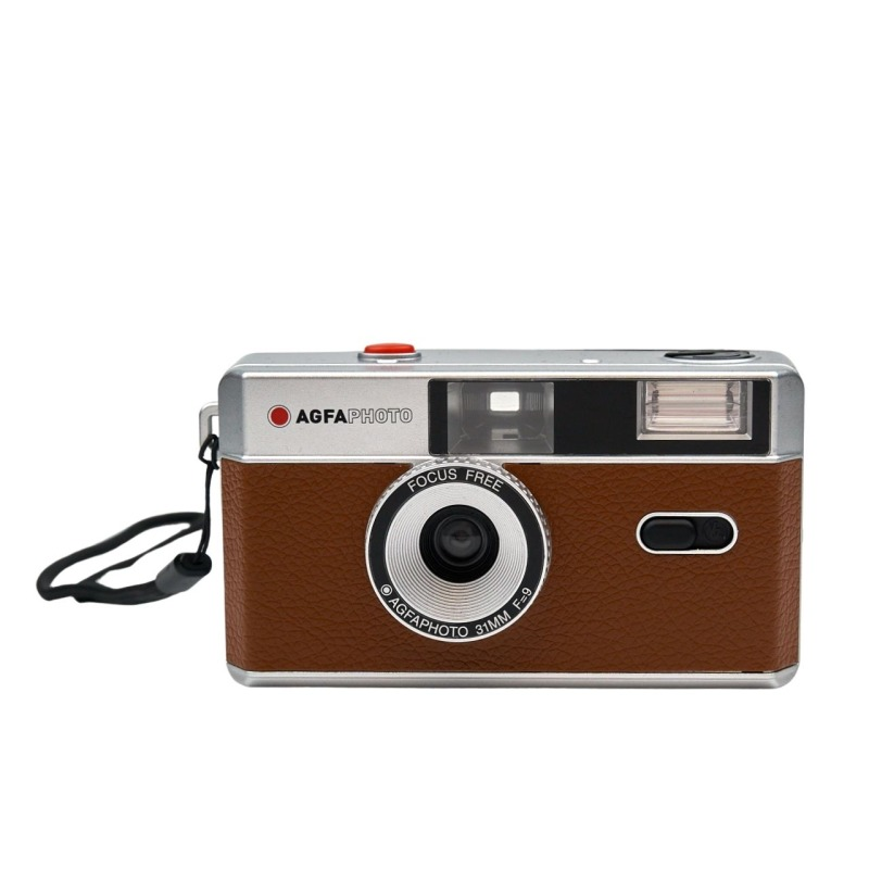 camara compacta analogica agfa 35 mm marron bolsa 1