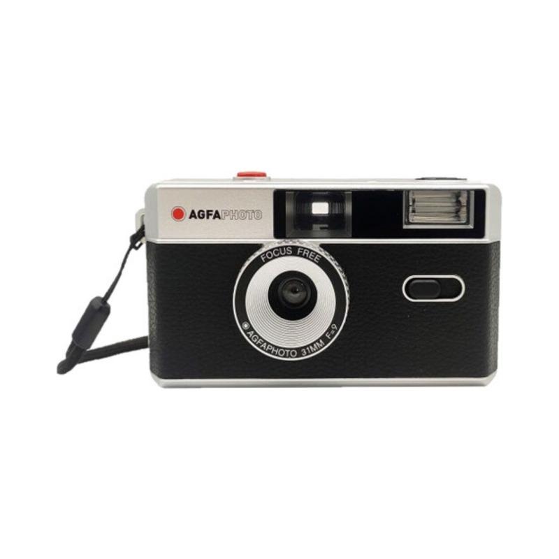 camara compacta analogica agfa 35 mm negra bolsa 1