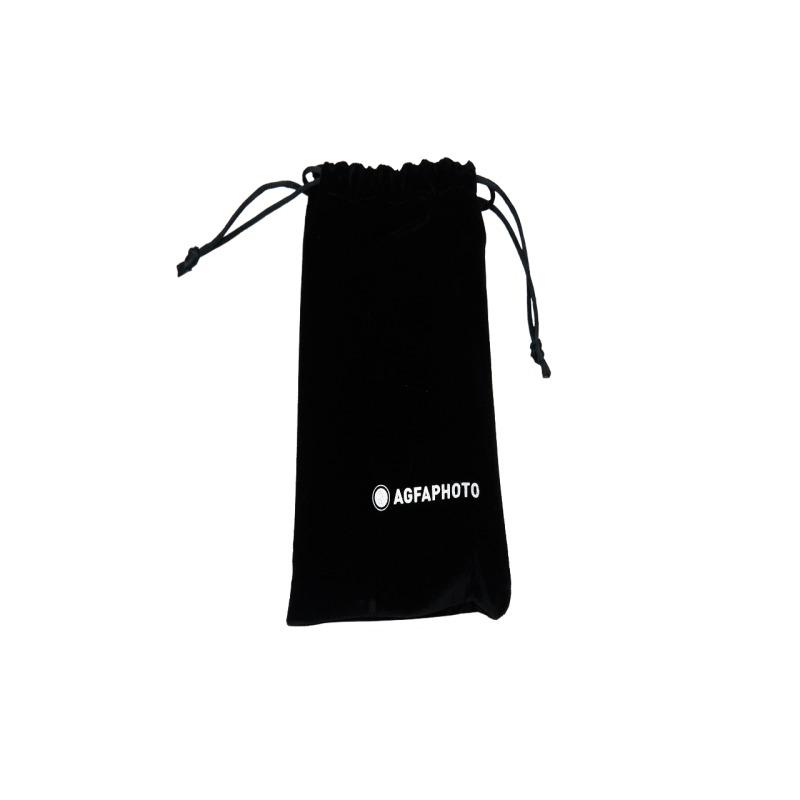 camara compacta analogica agfa 35 mm roja bolsa