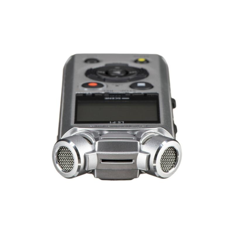 grabadora digital de voz olympus ls p1 plata bateria recargable adaptador tripode 4