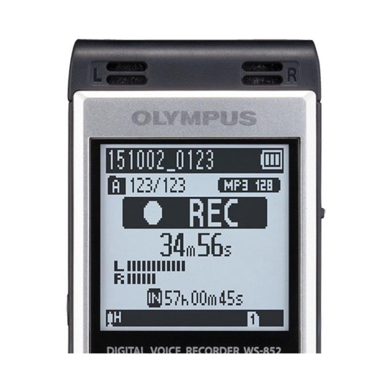 grabadora digital de voz olympus ws 852 plata 4gb bateria recargable 2