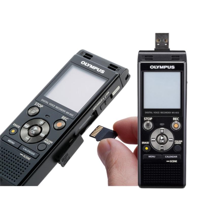 grabadora digital de voz olympus ws 853 negro 8gb bateria recargable y funda 3