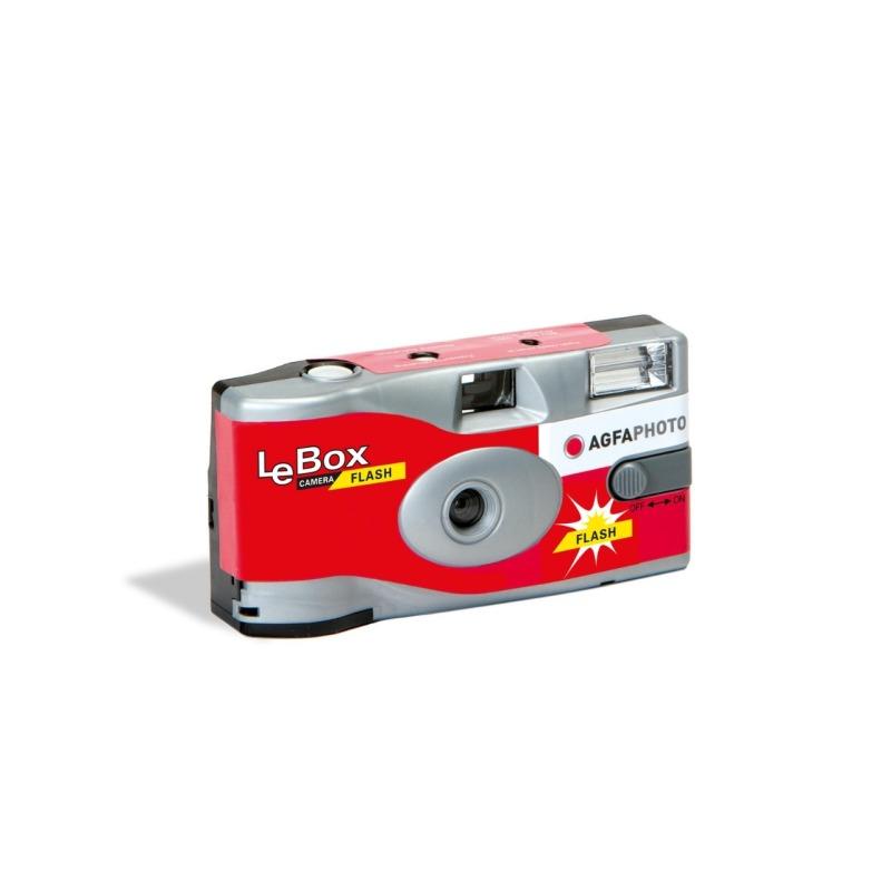 camara de un solo uso agfaphoto lebox 400 27 con flash