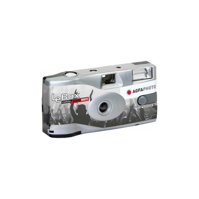 camara de un solo uso agfaphoto lebox black white 400 27 con flash 1