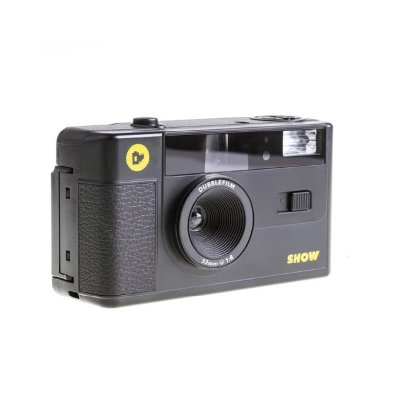 dubblefilm camara compacta analogica 35 mm show bolsa y correa negra 2