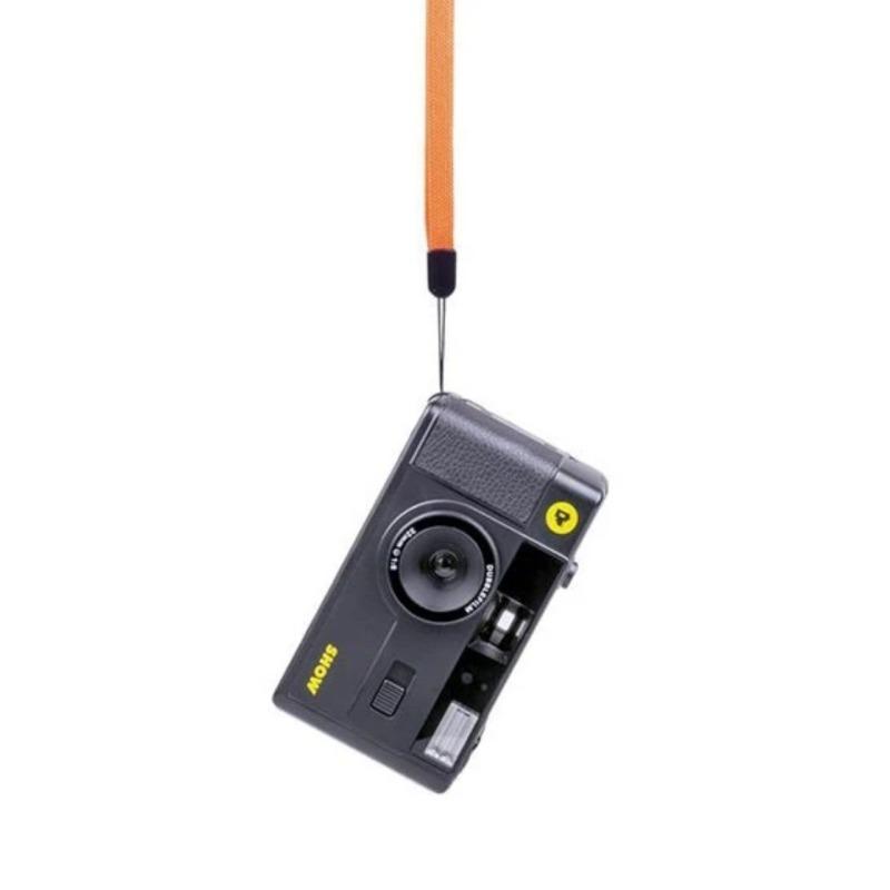 dubblefilm camara compacta analogica 35 mm show bolsa y correa negra