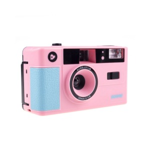dubblefilm 35mm compact analog camera show bag and strap pink