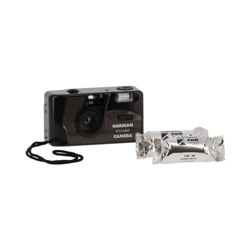 ilford camara compacta analogica 35 mm flash 2 film pan 400 bw 3