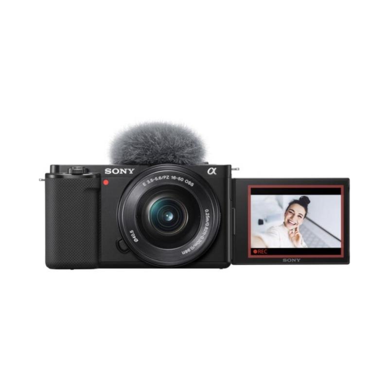 sony camara compacta dsc zv e10 objet16 50 mm vlog negra 3