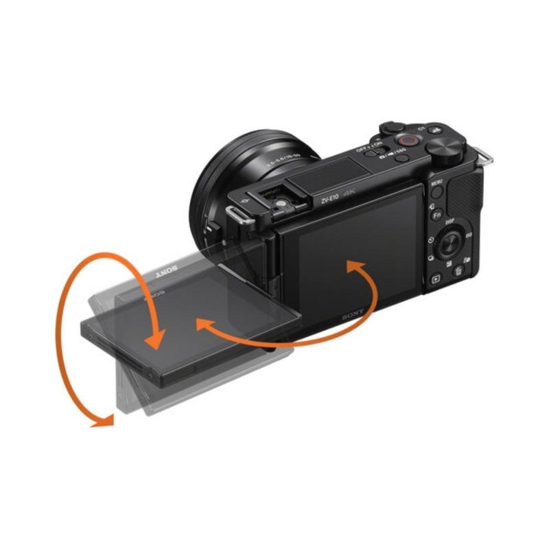 sony camara compacta dsc zv e10 objet16 50 mm vlog negra 8