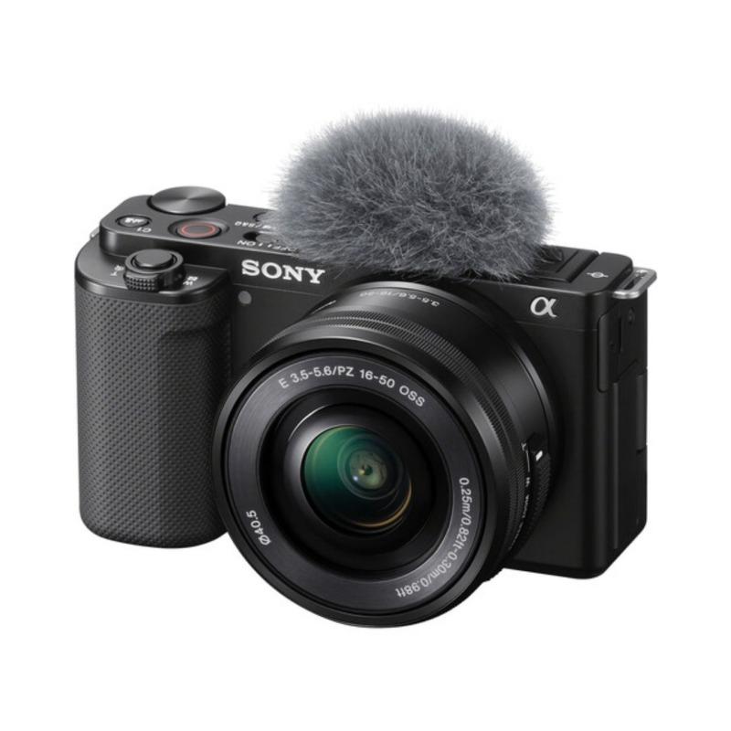 sony camara compacta dsc zv e10 objet16 50 mm vlog negra